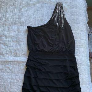 One shoulder formal dress